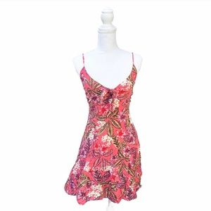 Mink pink floral mini dress